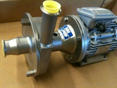 centrifugal pump 316 stainless steel, 12.6 m3/h. 2,2kw motor *cip*
