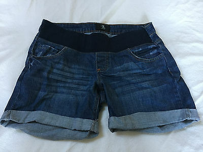Mothercare denim maternity shorts in blue