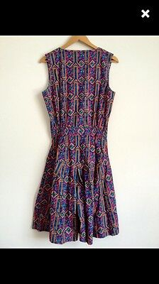 """Ladies Vintage """"woodstock"""" Colourful Playsuit With Wide Culottes Size S"""