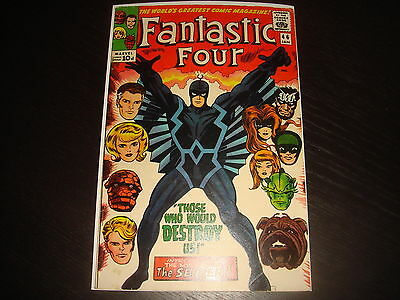 FANTASTIC FOUR #46 1st full Black Bolt Silver Age Marvel Comics 1966 FN+ glossy!