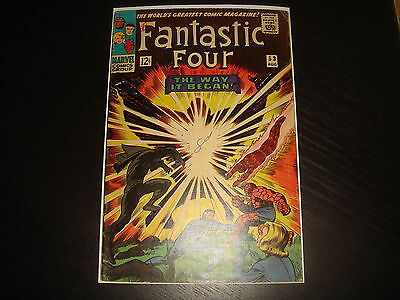FANTASTIC FOUR #53 Silver Age 2nd Black Panther  Marvel Comics 1966 VG/VG-