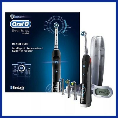 New Braun Oral-B 6500 Black Smart Series Electric Toothbrush with Bluetooth