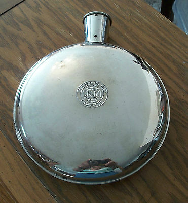 ANTIQUE 1912 CELLO METAL BED WARMER HOT WATER BOTTLE FLASK w/ STOPPER