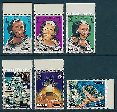 Qatar Scott #190-95 (6 stamps) Very Fine (Mint Never Hinged) SCV:$24.85