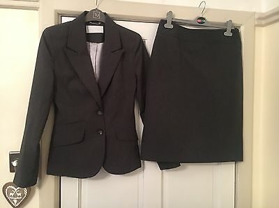 Grey Formal Skirt Suit Women's Size 8-12