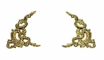 Set 2 Ormolu Clock Corner Spandrels 70mm - Arch Spandrels Corner Decoration