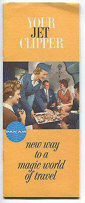 Pan Am Boeing 707 Your Jet Clipper Brochure Paa American 1959