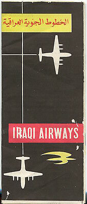 Iraqi Airways Timetable Summer 1959 Vickers Viscount