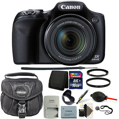 Canon PowerShot SX530 HS 16MP WiFi Digital Camera +16GB Kit - Black Friday Deal