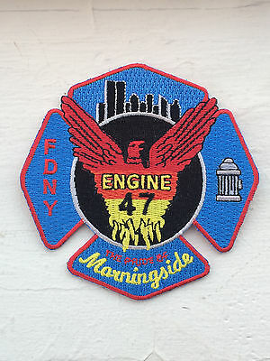 """FDNY Engine 47 """"The Pride Of Morningside"""" Patch."""