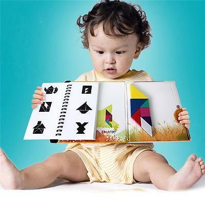 150 Puzzles Magic Magnetic Tangram Toys Children Kids IQ Educational Game Book J