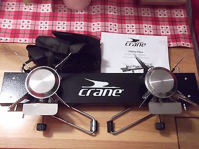 Fishing / Camping Gas Double Burner Folding Stove & Carry Bag