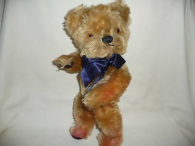 Vintage Antique Teddy Bear Jointed Mohair Chad Valley Christmas Present Collecto