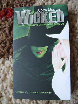 WICKED the MUSICAL Promotional Card Mini Flyer - Mint  *FREE UK P&P*