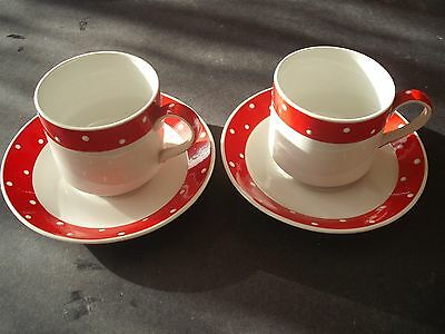 Marvellous Midwinter Casino Coffee Cups & Saucers x 2.