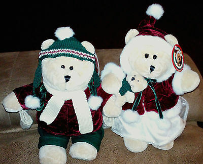 New with tags    Starbucks Bearista   Christmas Bears  Pair   2005