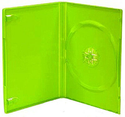 50x Single Green 14mm Quality CD / DVD Cover Cases Standard Size Case