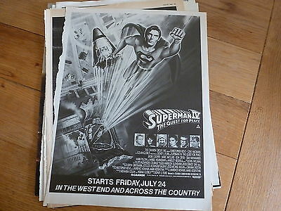 Superman 4 - Christopher Reeve -  Full Page Magazine Ad