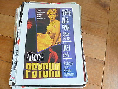 Psycho - Alfred Hitchcock  - Full Page Magazine Ad Printed on Card