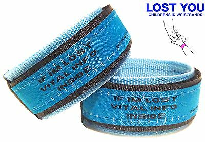 Child Kid Safety Id Wristband, Identity Bracelet For Lost Children, Medical Id