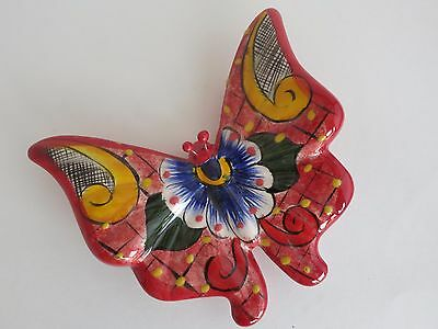 Mexican Talavera Pottery BUTTERFLY 6''