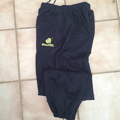 """Training Trousers  Brushed Cotton  Drill Black size 32"""" Waist"""