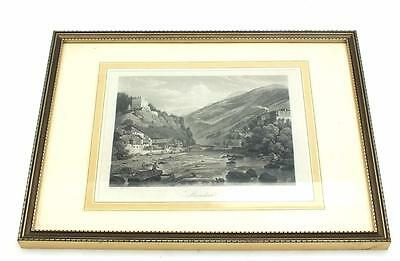 20ThC Coloured lithograph Print Signed - Castle Frame Picture C1900