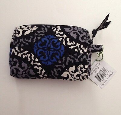 NWT Vera Bradley Travel SMALL Cosmetic Bag In Canterberry Cobalt