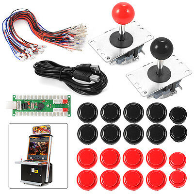 No Delay Arcade Game Controller USB Joystick for MAME Raspberry 2 Players AC608