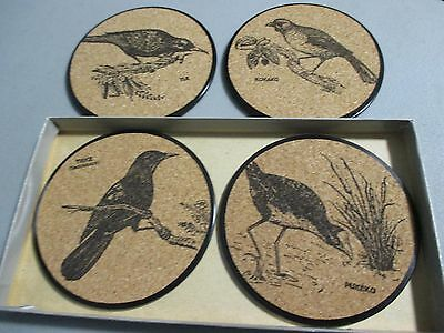 4 Boxed Coasters New Zealand Birds Made In New Zealand