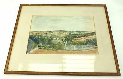 20thC Watercolour Painting English Country Side-  Landscape Picture Signed