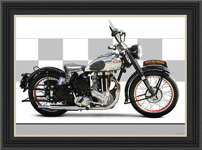 Ariel Red Hunter 1949 Motorcycle Print / Classic Motorcycle Poster