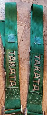 Vintage Green Takata 4 point harness USED Made In Japan 2011 Spoon Sports Mugen