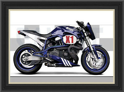 Buell X1 Lightning Motorcycle Print / Poster