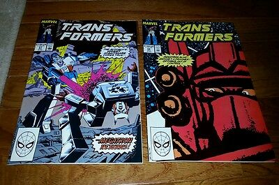 TRANSFORMERS 57 & 58 FINE SHAPE bagged and boarded.