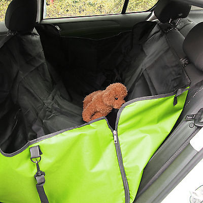 Pet Dog Cat Car Rear Back Seat Waterproof Cover Safety Mat Protect Hammock Green