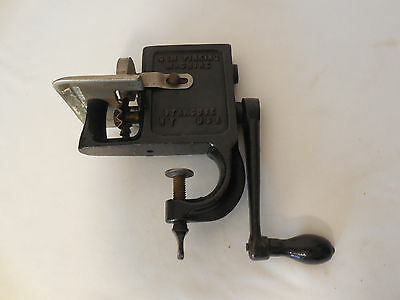 The GEM Antique Cast Iron Clamp On Pinking Machine. Syracuse N.Y.