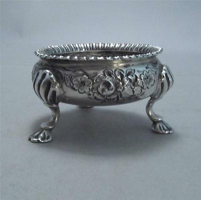 19th c. Solid Silver Open Salt Chinese Export ? West Indies?