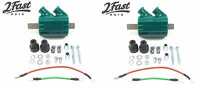 Kawasaki 12 Volt Ignition Coil Pair Dual Output High Performance 3 Ohm DC1-1 NEW