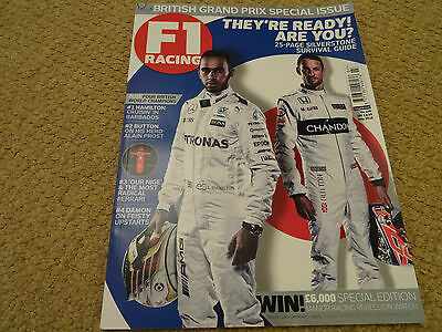 F1 Racing Magazine July 2016 Very Good Condition