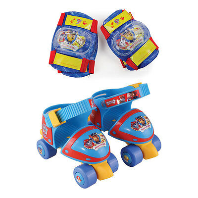 PAW PATROL Adjustable Size 7-11 Quad Skates with Knee Pads & Elbow Pads Protecti