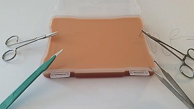 Large Suture Pad w/ Case & Tool Set Kit Your Design Medical Made in USA New