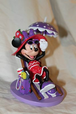 Disney Minnie Mouse RED HATs over Heels Hamilton Collection FUN IN THE SUN