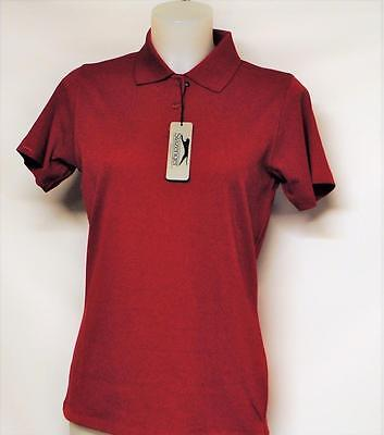 Womens Slazenger SMALL cotton polyester red short sleeve golf polo shirt