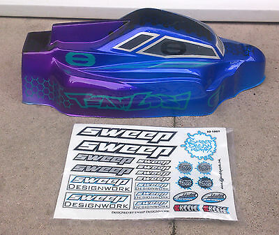 New Losi 8ight Eight Sweep Racing Birdie 1/8th Nitro RC Body Shell Cover Top Lid