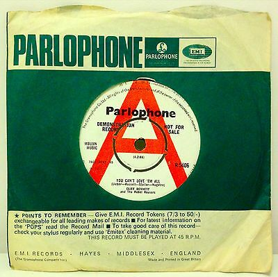CLIFF BENNETT & THE REBEL ROUSERS - You Can't Love 'Em All  1966 Parlophone demo