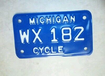 Motorcycle License Plate Michigan