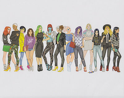 X-Women Art Print (Marvel) - December 2016 Nerd Comic Block - NM (Tom Kennedy)