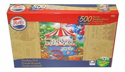 "Pepsi-Cola Vintage 500 Piece Puzzle Collection 11 X 18.25"" Vending Cart NEW"