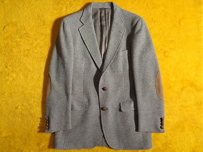 VINTAGE POLO CHAPS ~ MENS TWEED WOOL JACKET BLAZER ~ Size 36 37 38 S ~ Chest 40